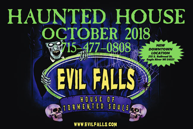 Evil Falls haunted house in Eagle River, WI