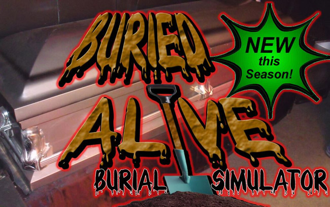 Burial simulator at Misery Haunted House in Little Chute, WI