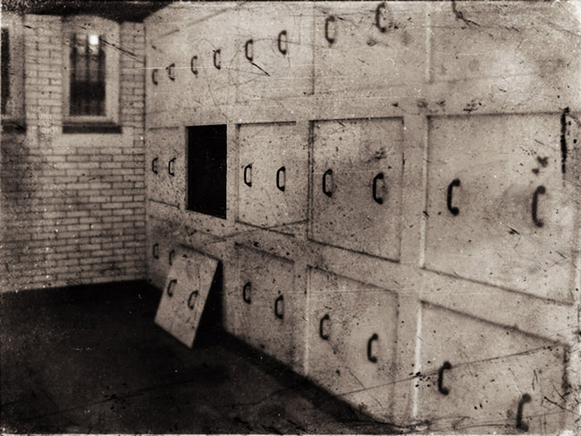 The vault where bodies were stored during the winter