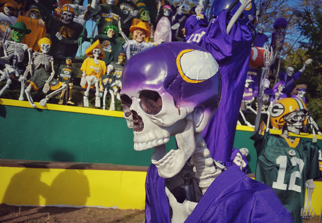 Skeleton Minnesota Vikings fans