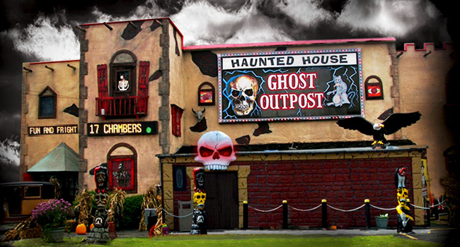 Ghost Outpost haunted house in Wisconsin Dells