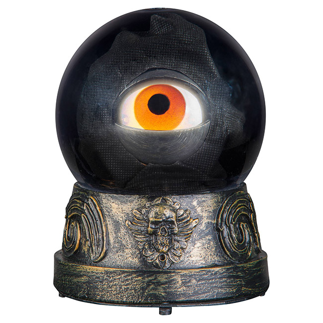 Crystal ball with animated eye Halloween decoration