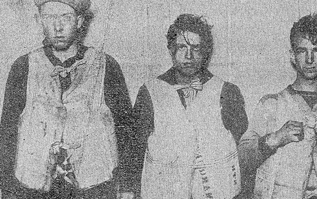 Survivors of the Senator shipwreck