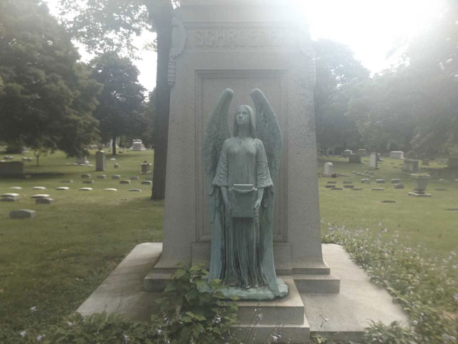 Statue stolen from Forest Home Cemetery in Milwaukee