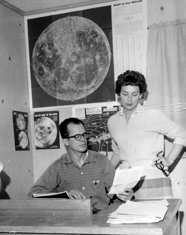 Jim and Coral Lorenzen at APRO headquarters, 1955